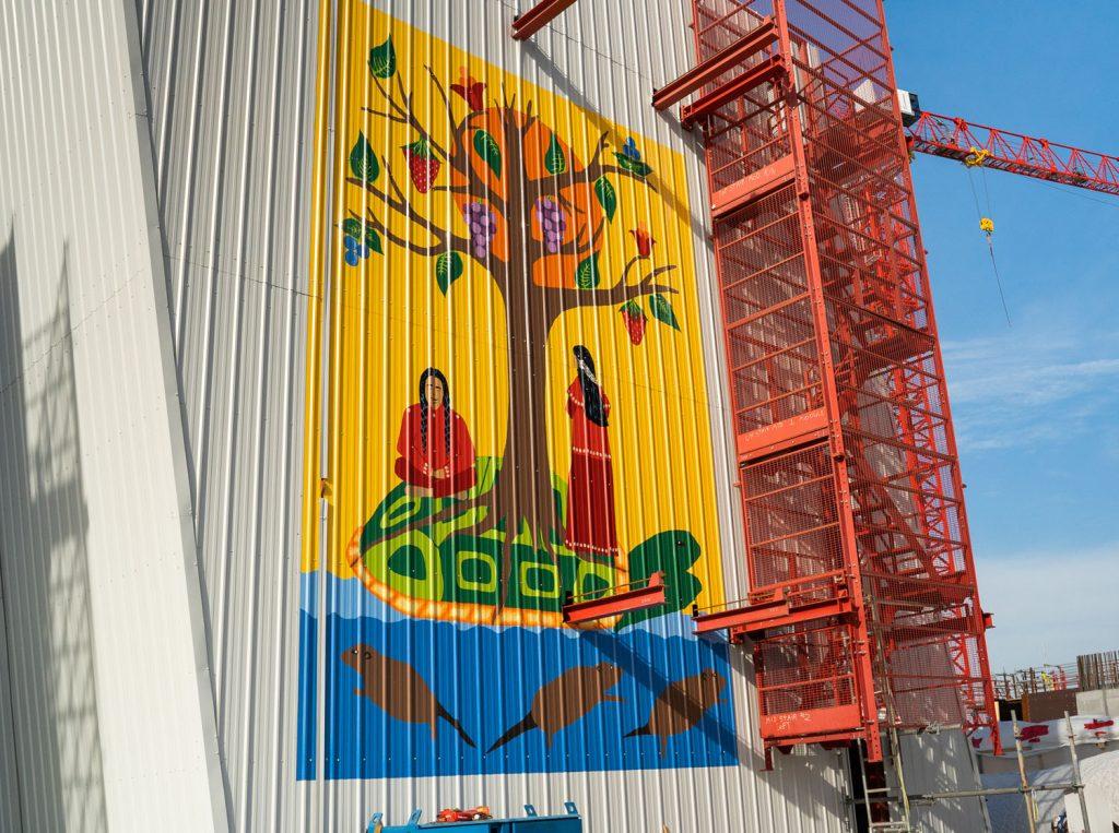 First Nation artists feature artwork on Gordie Howe International Bridge construction site