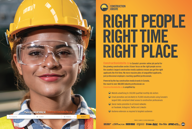 Construction-centric job board launches
