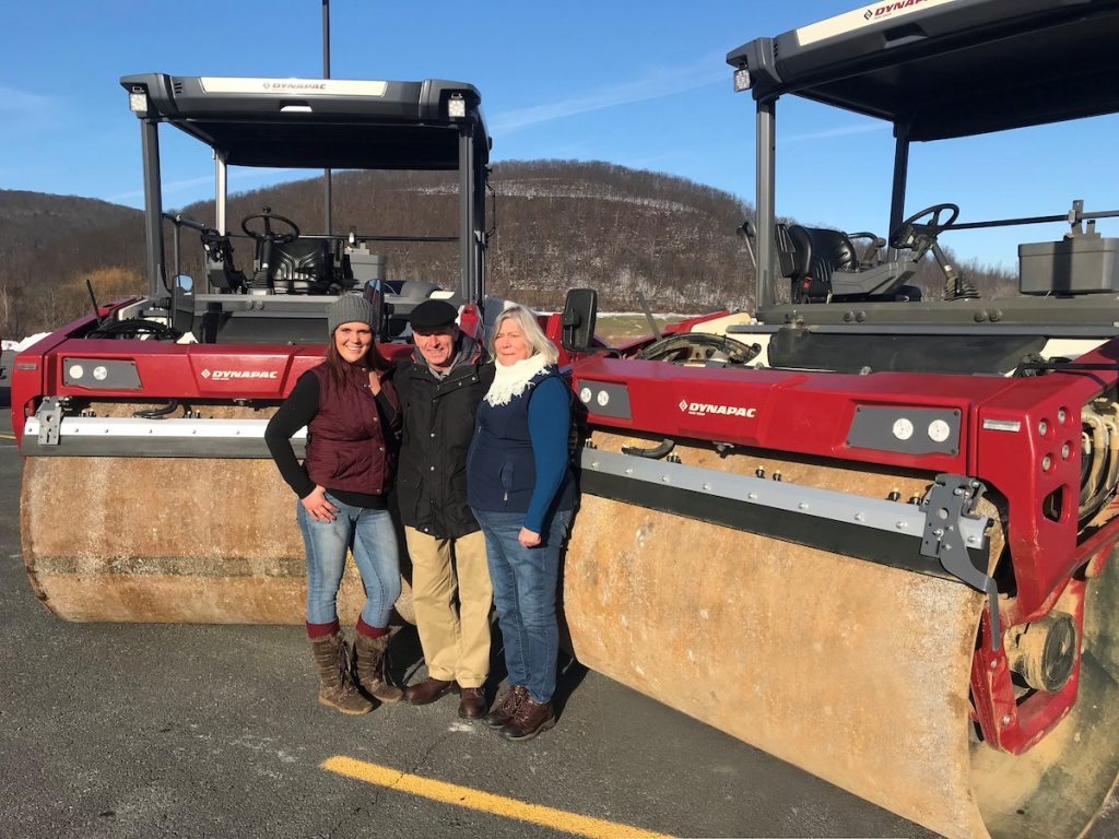 Grandmother and granddaughter roll out with Dynapac rollers