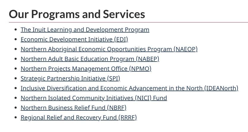 Northern Indigenous Economic Investment Nunavut