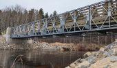 Showing Acrow's modular bridge in N.B.